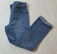Faded Glory Girls Jeans Sz M 7 8 Jegging Rolled Hem Skinny Stretch Casual School - $16.82