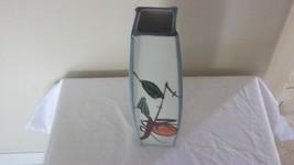 Oriental  Handpainted Orange Blossom Tree Porcelain Vase - $46.75