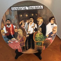 """Guy Buffet Tuscan Storefronts Hosteria Toscana 1997 dinner plate 11"""" Ita... - $37.36"""
