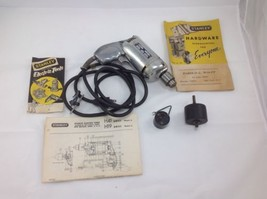 Vintage Stanley H-41A Drill With Accessories 1/4 1800 Rpm Works Great - $56.09