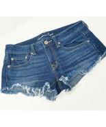 American Eagle Damen 4 Jeans Denim Shorts Roh Saum - $14.80