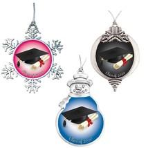 Class of 2020 Christmas Ornament Graduation Senior Gift Bulb Snowman Sno... - $12.97