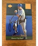 George Brett 1994 UD Hand Signed Autographed Baseball Card W/COA Royals HOF - $46.60