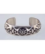 Amazing Navajo TAHE Sterling Silver Cuff Bracelet - $857.57