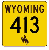 Wyoming Highway 413 Sticker R3538 Highway Sign - $1.45+