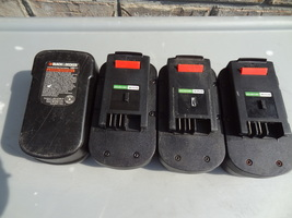 Black & Decker Lot Of 4 Working Nice HPB18 Battery Only Cordless Tool - $69.99