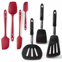 DI ORO Chef's Choice Premium 7-Piece Silicone Spatula Set - 600F Heat-Re... - $72.24