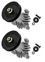 2 Spindles With Pulleys and Hardware For 130794 Spindle 153535 Pulley - $47.47