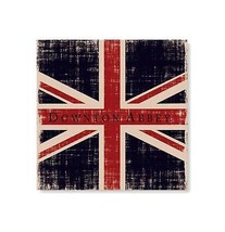 """Heritage Lace 14.5"""" Downton Abbey British Union Jack  Beige Hanging Wall... - $47.26"""