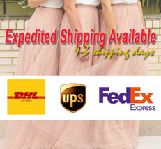 Fuchsia and Golden Tulle Long skirt Tulle Mesh Princess Skirt, Ballet Skirt NWT image 10
