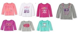 The Childrens Place Toddler Girls Long sleeve Top T-Shirt Sizes-2T,3T, 4... - $6.99