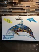 F.X.SCHMID Dolphin Dreams Marine Wildlife Shaped Puzzle 1000 pieces #98163 - $26.72