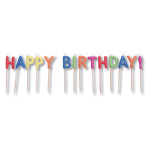 "Pick Letter Sets 3"" Candles Happy Birthday Brights, Case of 12 - £35.07 GBP"