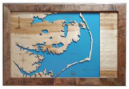 Outer Banks, North Carolina - Wood Laser Cut Map - Wall Hanging - $199.99+