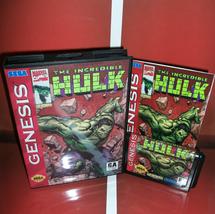 The Incredible Hulk  Cover with box and manual  for Sega Mega Drive/ Genesis - $25.00