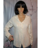 Christoper Banks Cardigan Sweater Cream color Warm Sweater Size M  - $16.78