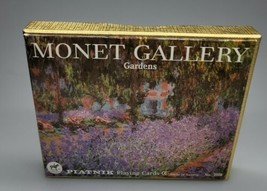 Monet Gallery Gardens Playing Cards Double Deck No 2108  Used *Complete*  - $16.99