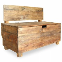 vidaXL Bench with Compartment Handmade Solid Reclaimed Wood Entryway Chair - $233.99