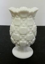 Westmoreland Old Quilt Pattern Celery Vase Flower Vase Scalloped Saw Too... - $21.66
