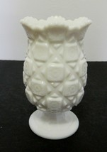 Westmoreland Old Quilt Pattern Celery Vase Flower Vase Scalloped Saw Tooth Edge - $21.66