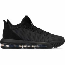 Men's Nike LeBron 16 Low Basketball Shoes Black/Black/Black CI2668 002 - $220.92