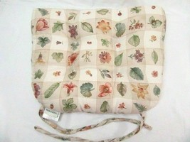 Waverly Pastoral Plaid Beige Floral Butterfly Berry Herbs Chair Seat Cushion(s) - $28.00