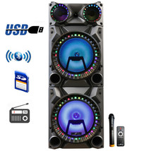 beFree Sound Rechargeable Bluetooth 12inch Double Subwoofer Portable Par... - $304.23 CAD