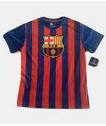 new FC BARCELONA men's JERSEY sz M L XL HKY Sportswear soccer football t... - $27.90