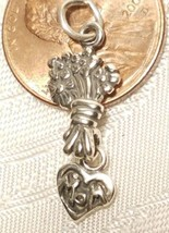 BOUQUET OF FLOWERS FOR MOM STERLING SILVER CHARM