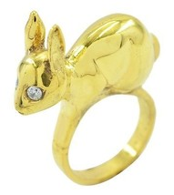 ideal White CZ Gold Plated White Ring gemstone US gift - $19.99