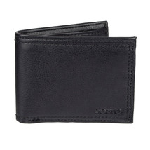 Levi's Men's Rfid Extra Capacity Zipper Coin Credit Card ID Bifold Wallet Black image 2