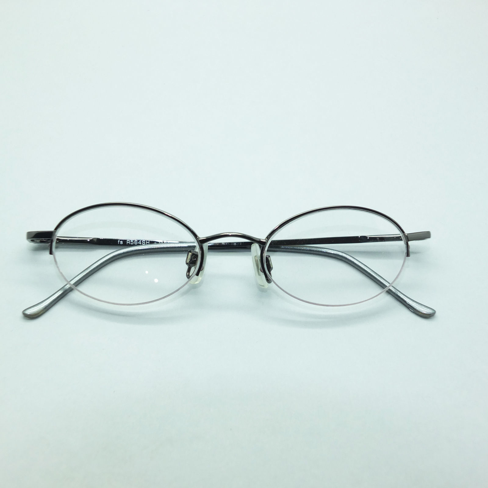 Petite Semi Frameless Bottomless Hint Of Tint Shiny Gray +1.00 Reading Glasses