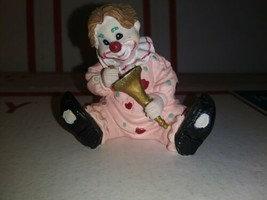 "Spain's Inc Ceramic Clown/Horn Pink Polka Dot 2"" Figurine/ Statue Happy ... - $3.77"