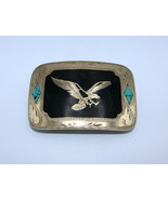 Brass Eagle with Turquoise Johnson & Held Buckle - $90.00