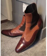 Handmade Men's Leather ankle boots. Men boot , brown leather ankle boots - $159.99+
