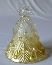 Mikasa Winter Dream Gold Clear Glass Bell - $9.90