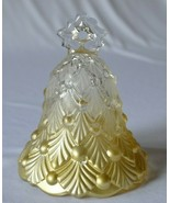 Mikasa Winter Dream Gold Clear Glass Bell - $9.90