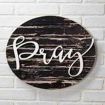 Embellished Sentiment Wall Plaque, Pray  - $16.24