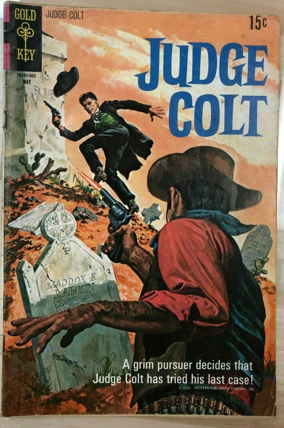 Primary image for JUDGE COLT #3 (1970) Gold Key Comics western VG+