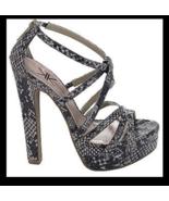 Kardashian Kollection Womens Size 10 Python Strappy Sandals Size US 10 E... - $29.69