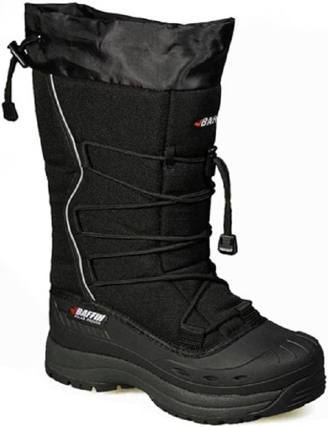 New Ladies Size 7 Black Baffin Snogoose Snowmobile Winter Snow Boots Rated -40F