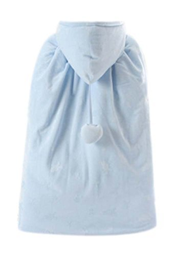Baby Cloak Fall Winter Funds Thick Warm Cotton Shawl Out Clothes Blue