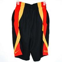 Nike Dri-Fit Elite Black Red Yellow Men's Athletic Basketball Shorts Size S image 2