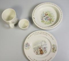 Beatrix Potter Mrs. Tiggy Winkle Wedgwood 4pc p... - $88.95