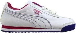 Puma Roma Basic White/Cabaret-Blue 353573 10 Women's SZ 8 - $36.62