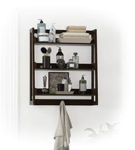 UTEX 3 Tier Bathroom Shelf Wall Mounted with Towel Hooks, Bathroom Organ... - $43.24