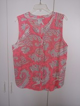 American Eagle Outfitters Ladies Sleeveless Button Polyester TOP-JR XL-NWOT-GRE - $11.99