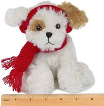 Bearington Chilly Plush Stuffed Animal Brown and White Dog with Scarf, 7... - $16.00