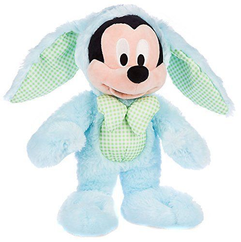 """Disney Store Easter Mickey Mouse 12.5"""" Plush Bunny"""