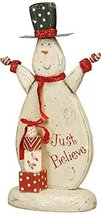 Primitives by Kathy Merry Present Snowman Shelf Sitter, Just Believe - $27.54